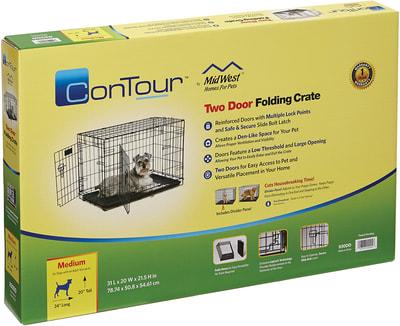 """MidWest Клетка для собак и кошек Contour с двумя дверьми 30"""" (фото, вид 2)"""