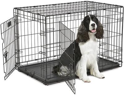 """MidWest Клетка для средних собак Contour с двумя дверьми 36"""" (фото, вид 1)"""