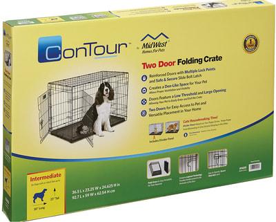 """MidWest Клетка для средних собак Contour с двумя дверьми 36"""" (фото, вид 2)"""
