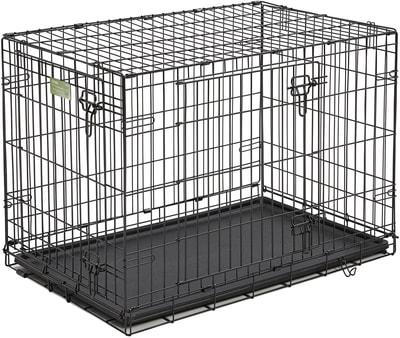 """MidWest Клетка iCrate Double Door 36"""" двухдверная для щенков и средних собак, черная (фото, вид 2)"""