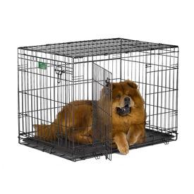 """MidWest Клетка iCrate Double Door 36"""" двухдверная для щенков и средних собак, черная (фото, вид 3)"""
