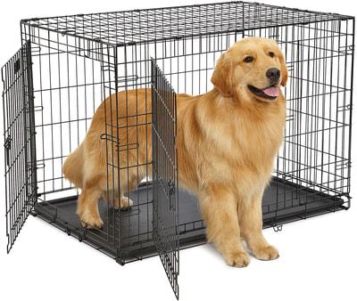 """MidWest Клетка для больших собак Contour с двумя дверьми 42"""" (фото, вид 1)"""