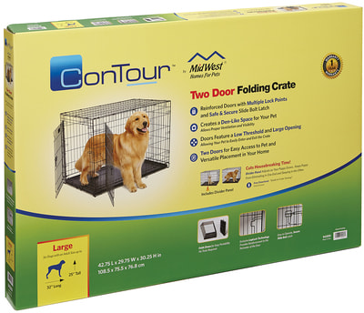 """MidWest Клетка для больших собак Contour с двумя дверьми 42"""" (фото, вид 2)"""