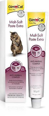 GimCat Паста для кошек для вывода шерсти из желудка Malt-Soft Paste Extra (фото, вид 5)