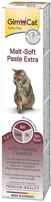 GimCat Паста для кошек для вывода шерсти из желудка Malt-Soft Paste Extra (фото, вид 6)