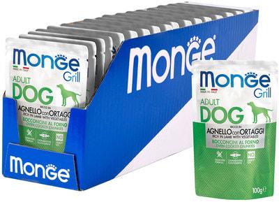 Monge Dog Grill Pouch паучи для собак ягненок с овощами (фото, вид 2)