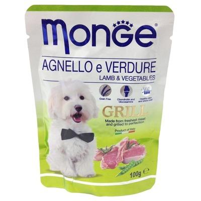 Monge Dog Grill Pouch паучи для собак ягненок с овощами (фото, вид 4)