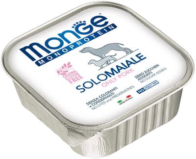 Monge Dog Monoprotein Solo консервы для собак паштет из свинины (фото, вид 2)