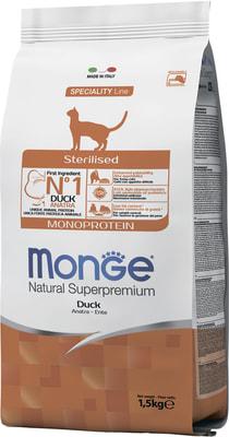 Monge Cat Sterilised Duck корм для стерилизованных кошек с уткой (фото, вид 6)