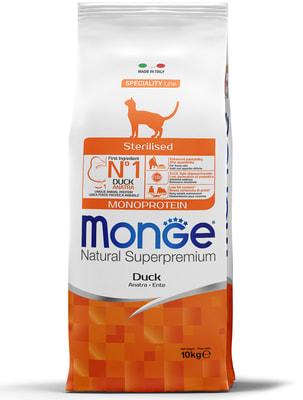 Monge Cat Sterilised Duck корм для стерилизованных кошек с уткой (фото, вид 7)