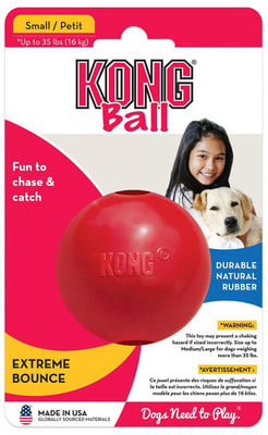 Kong Игрушка для собак Classic Мячик под лакомства (фото, вид 1)