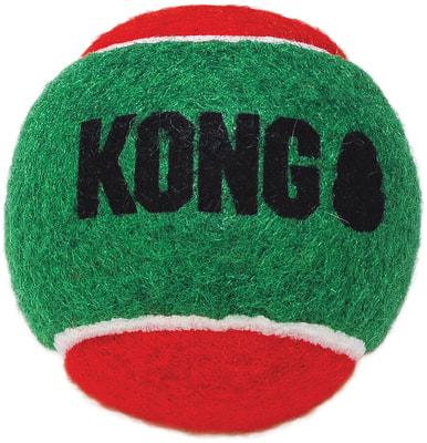 Kong Holiday игрушка для собак Теннисный мячик 3шт (фото, вид 1)
