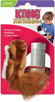 Kong Игрушка для кошек Белка с тубом кошачьей мяты (фото, вид 2)