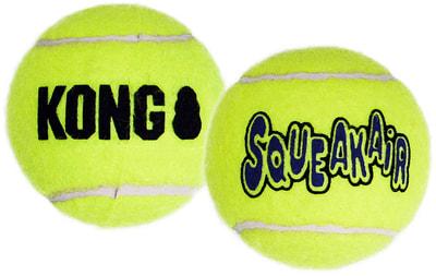 Kong Игрушка для собак Air Теннисный мяч большой (в упаковке 2 шт.) (фото, вид 1)