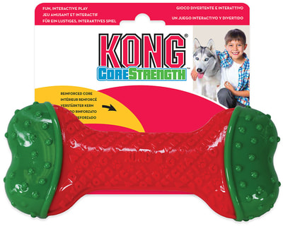 Kong Holiday игрушка для собак CoreStrength Косточка (фото, вид 1)