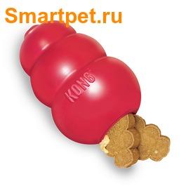 Kong Игрушка для собак Classic из литой резины для лакомств (фото, вид 4)