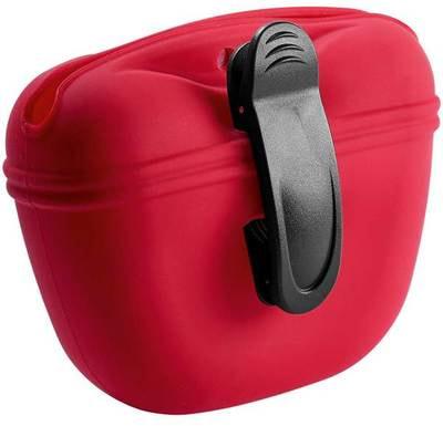 Hunter Сумочка для лакомств силиконовая красная (фото, вид 1)
