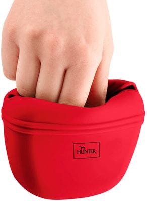 Hunter Сумочка для лакомств силиконовая красная (фото, вид 2)