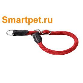 Hunter Ошейник-удавка для собак Freestyle нейлоновая стропа красный (фото, вид 1)