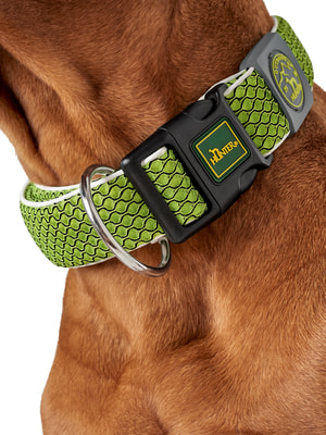 Hunter Ошейник для собак Hilo Vario Basic, сетчатый текстиль, лайм (фото, вид 2)
