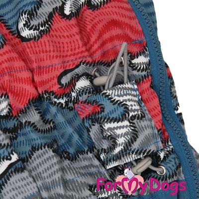 ForMyDogs Дождевик на крупные породы собак Камуфляж синий мальчик (фото, вид 3)