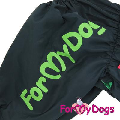 ForMyDogs Дождевик на крупные породы собак Череп мальчик (фото, вид 1)