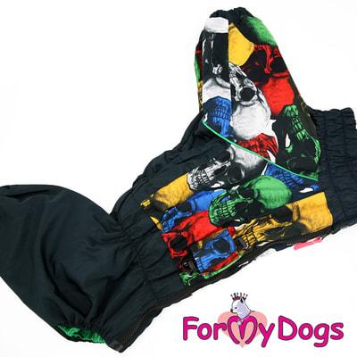 ForMyDogs Дождевик на крупные породы собак Череп мальчик (фото, вид 2)