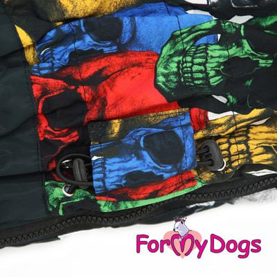 ForMyDogs Дождевик на крупные породы собак Череп мальчик (фото, вид 3)