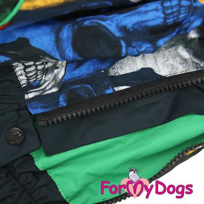 ForMyDogs Дождевик на крупные породы собак Череп мальчик (фото, вид 4)
