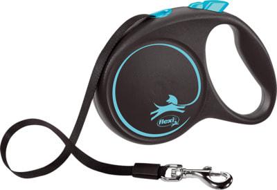 Поводок-рулетка flexi Black Design L, лента 5м, для собак до 50кг (фото)