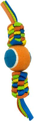Canine Clean Игрушка для собак Плетенка с теннисным мячом