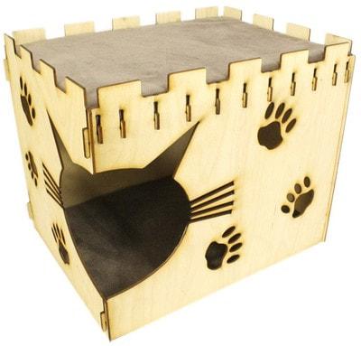 Smartpet Домик для кошек из фанеры Крепость