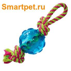 Petstages Mini ОРКА-мячик с канатом