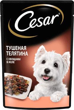 Cesar Консервы для собак Нежное патэ Говядина/Овощи