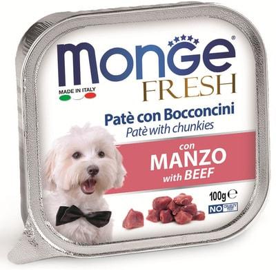 Monge Dog Fresh консервы для собак говядина (фото)