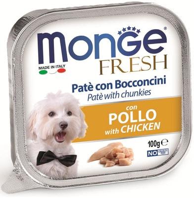 Monge Dog Fresh консервы для собак курица (фото)