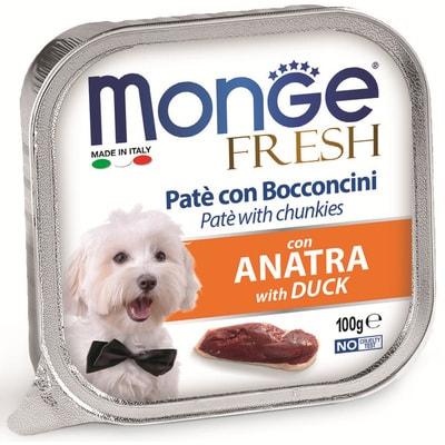 Monge Dog Fresh консервы для собак утка (фото)