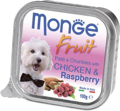 Monge Dog Fruit консервы для собак курица с малиной (фото)