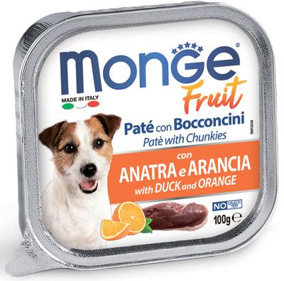 Monge Dog Fruit консервы для собак утка с апельсином