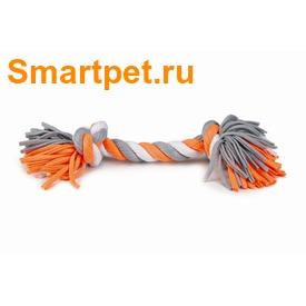 I.P.T.S./Beeztees Игрушка для собак Канат с 2-мя узлами текстиль серо/белый