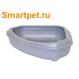 Moderna Туалет-лоток угловой с рамкой corner+rim 55х45х13см