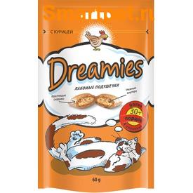 Dreamies Лакомые подушечки с Курицей (фото)