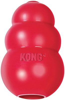 Kong Игрушка для собак Classic из литой резины для лакомств (фото)