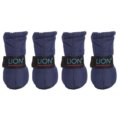 Lion Зимние сапоги для собак на липучке Темно-синие