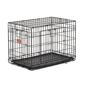 """MidWest Клетка Life Stage A.C.E 30"""" двухдверная для мелких собак и кошек, черная"""