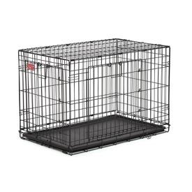 """MidWest Клетка для щенков и средних собак Life Stage A.C.E 36"""" двухдверная, черная"""
