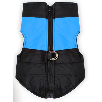 Smartpet Куртка для маленьких собак утепленная черно-голубая