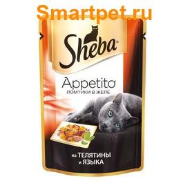 Sheba Пауч для кошек Appetito из Телятины и Языка в желе