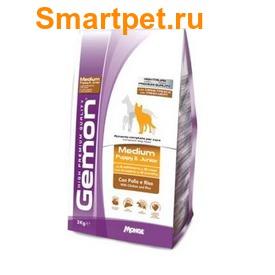 Gemon Dog Medium Сухой корм для щенков средних пород курица с рисом