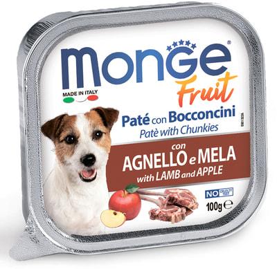 Monge Dog Fruit консервы для собак ягненок с яблоком